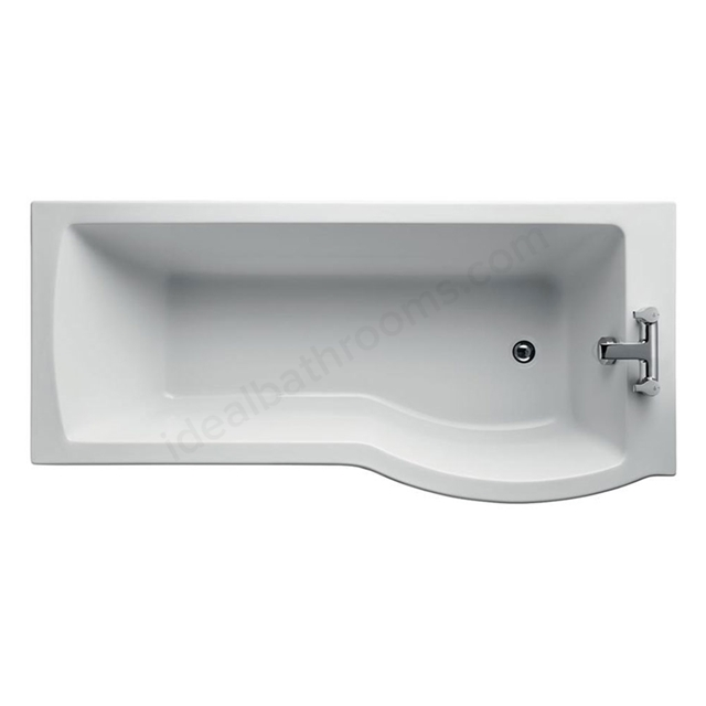 Ideal Standard TEMPO Arc Right Handed Shower Bath; Idealform Plus+; 0 Tap Hole; 1700mm; White