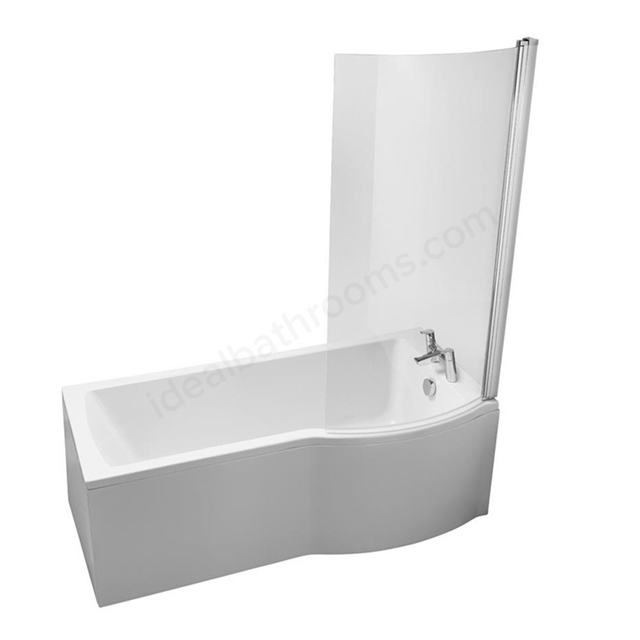 Ideal Standard TEMPO Arc Right Handed Shower Bath; 0 Tap Hole; 1700mm; White