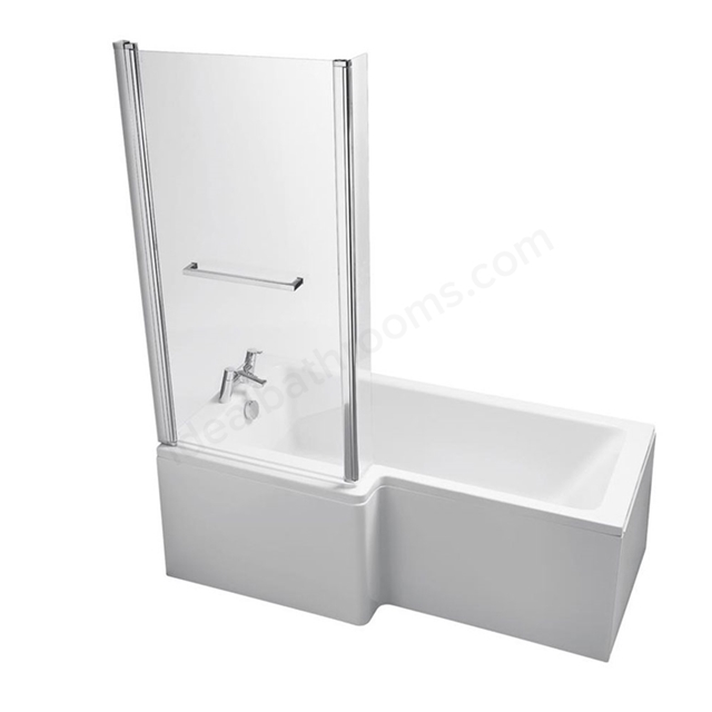 Ideal Standard TEMPO Cube Left Handed Shower Bath; 0 Tap Holes; 1700mm; White