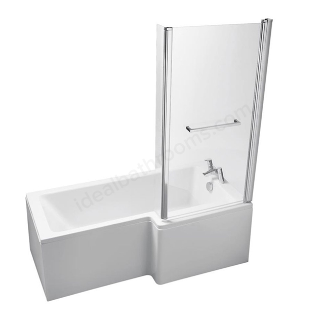 Ideal Standard TEMPO Cube Right Handed Shower Bath; 0 Tap Holes; 1700mm; White