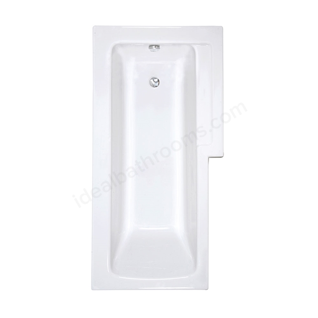 Vitra NEON L-Shape Shower Bath; 1700x850mm; Left Handed; 0 Tap Hole; White