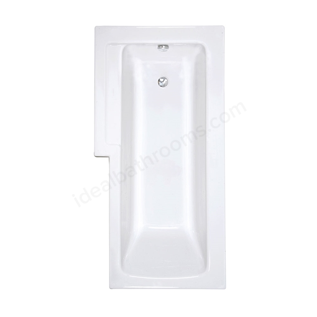 Vitra NEON L-Shape Shower Bath; 1700x850mm; Right Handed; 0 Tap Hole; White