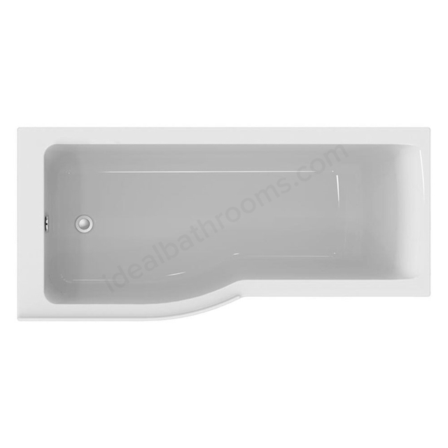 Ideal Standard CONCEPT AIR Left Handed P-Shape Shower Bath, Idealform, 0 Tap Holes, 1700x800mm, White