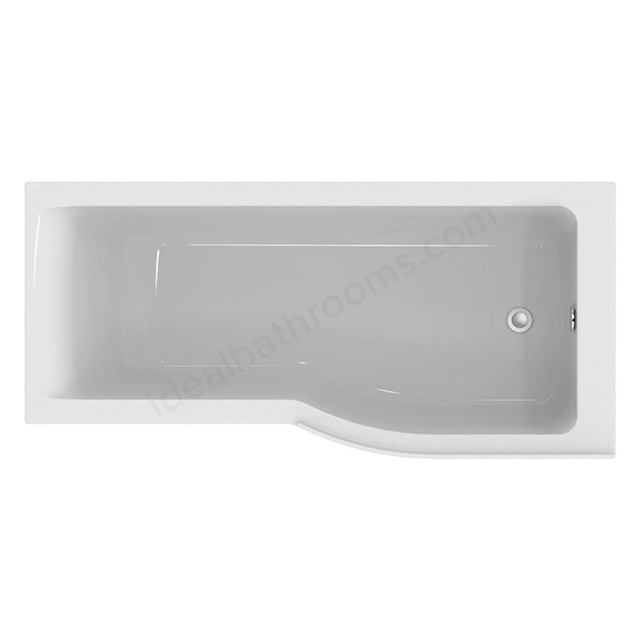 Ideal Standard CONCEPT AIR Right Handed P-Shape Shower Bath, Idealform, 0 Tap Holes, 1700x800mm, White