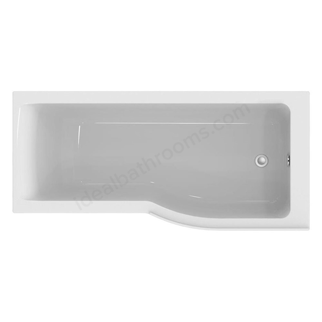 Ideal Standard CONCEPT AIR Right Handed P-Shape Shower Bath; Idealform Plus; 0 Tap Holes; 1700x800mm; White