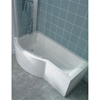 Ideal Standard CONCEPT Bath Screen; Silver/Clear