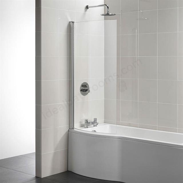 Ideal Standard TEMPO Arc Shower Bath Screen Bright Silver