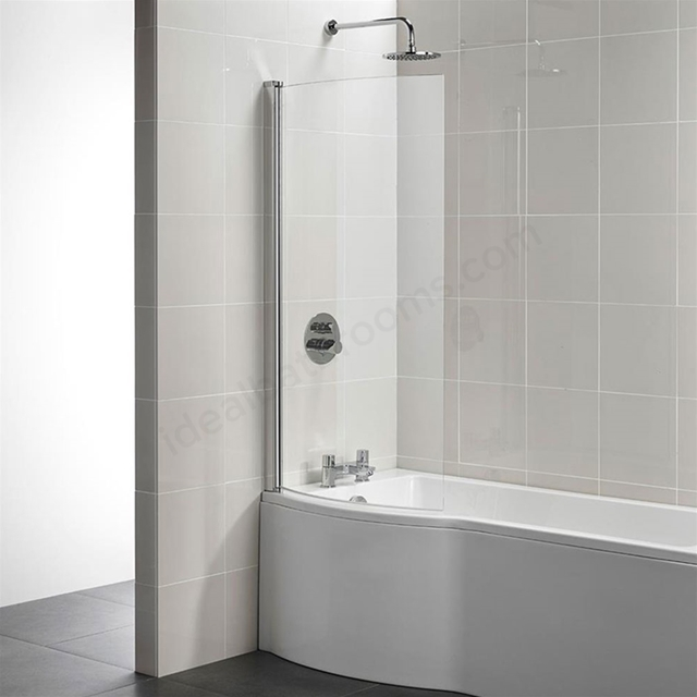 Ideal Standard TEMPO Arc Shower Bath Screen; Bright Silver