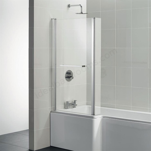 Ideal Standard TEMPO Cube Shower Bath Screen; Bright Silver
