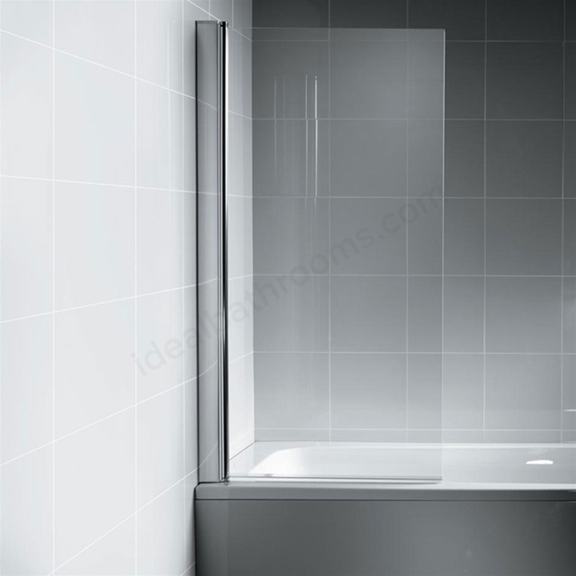 Ideal Standard SYNERGY Angle Bath Screen; Bright Silver
