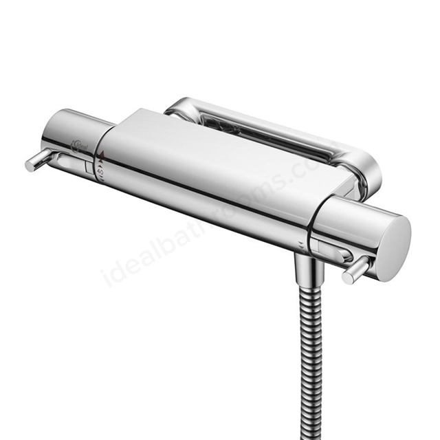 Ideal Standard ALTO Ecotherm Thermostatic Exposed Shower Mixer Metal Lever Handles & Fix Bracket; Chrome
