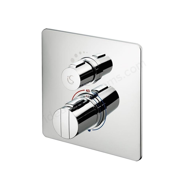 Ideal Standard CONCEPT Easybox Slim Built-in Thermostatic Shower Mixer Square Faceplate; Chrome
