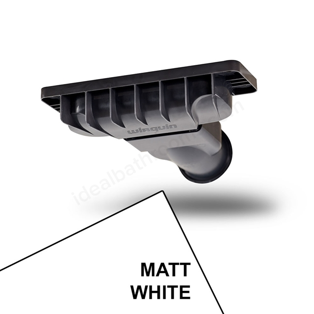 Just Trays EVOLVED Shower Waste; Matt White