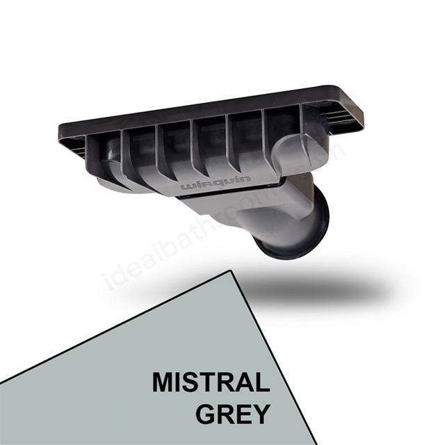 Just Trays EVOLVED Shower Waste; Mistral Grey