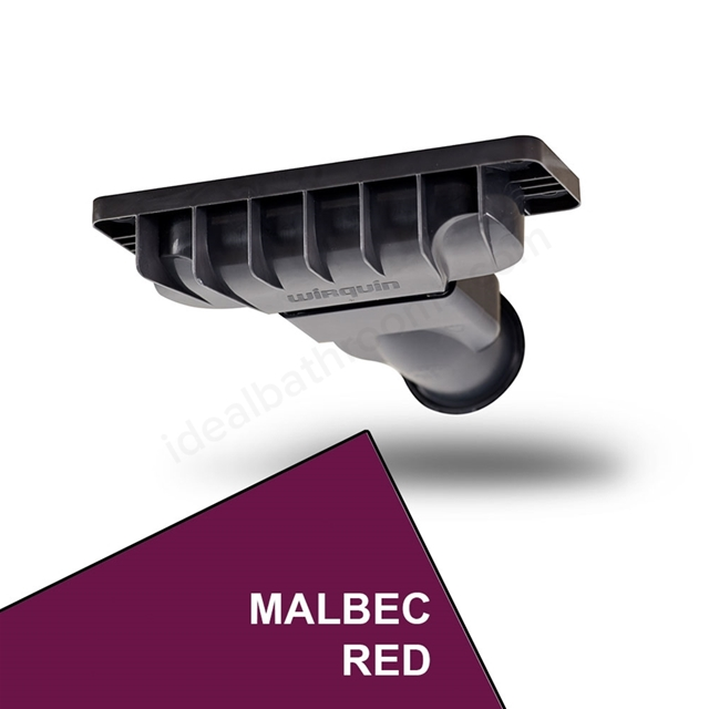 Just Trays EVOLVED Shower Waste; Malbec Red