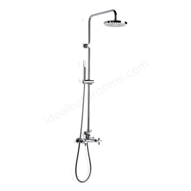 Roca LOFT-T Complete Shower Set; Exposed Valve; Fixed Shower Head and Shower Handset; Chrome