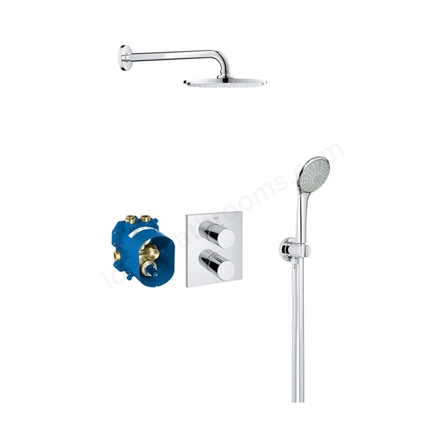 Grohe GROHTHERM 3000 COSMOPOLITAN Perfect Shower set with RAINSHOWER 210, Chrome