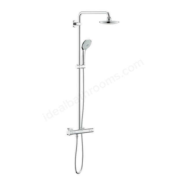 Grohe EUPHORIA System 180 Shower system with thermostat for wall mounting, Chrome