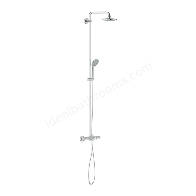 Grohe EUPHORIA System 180 Shower system with Bath thermostat for wall mounting, Chrome