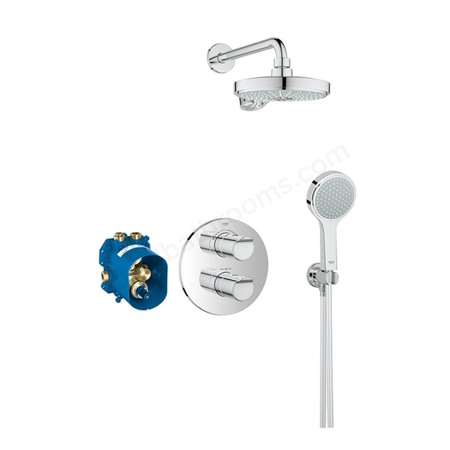 Grohe GROHTHERM 2000 Perfect Shower set with Power&Soul Cosmopolitan 190, Chrome