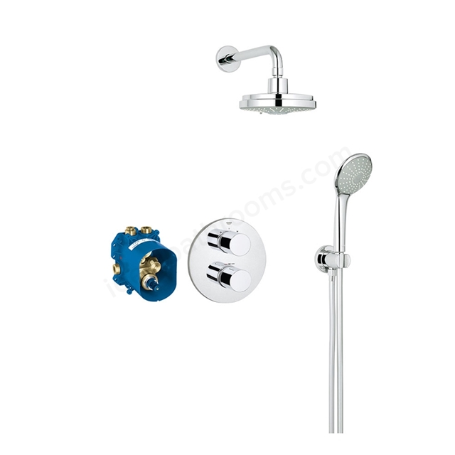Grohe GROHTHERM 3000 COSMOPOLITAN Perfect Shower set with RAINSHOWER Cosmopolitan 310, Chrome