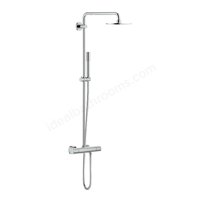 Grohe RAINSHOWER System 210 Shower system with thermostat for wall mounting, Chrome