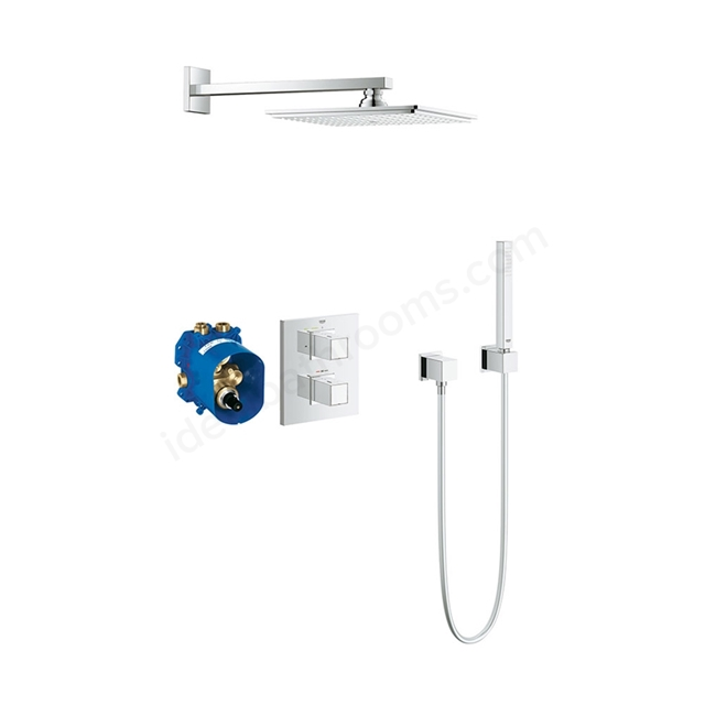 Grohe GROHTHERM CUBE Perfect Shower set with RAINSHOWER ALLURE 230, Chrome