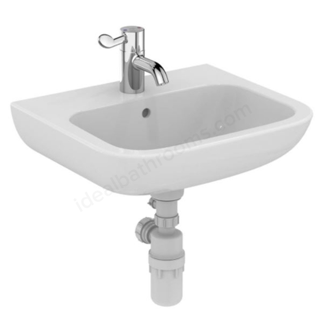 Armitage Shanks CONTOUR 21 Basin with Overflow; no Chain Hole; Center 1 Tap Hole; 500mm Wide; White