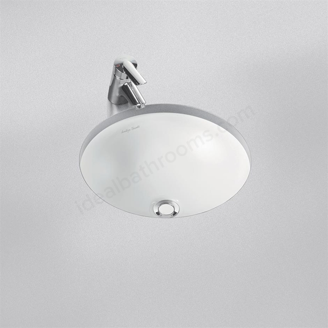 Armitage Shanks CONTOUR 21 Round Under Countertop Basin with Overflow; 0 Tap Hole; 480mm Wide ; White