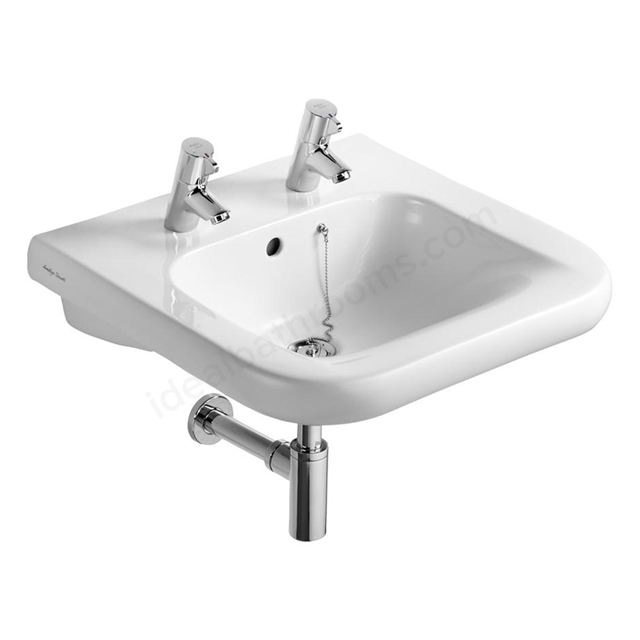 Armitage Shanks CONTOUR 21 Accessible Basin with Overflow and Chain Hole; 2 Tap Hole; 550mm Wide; White