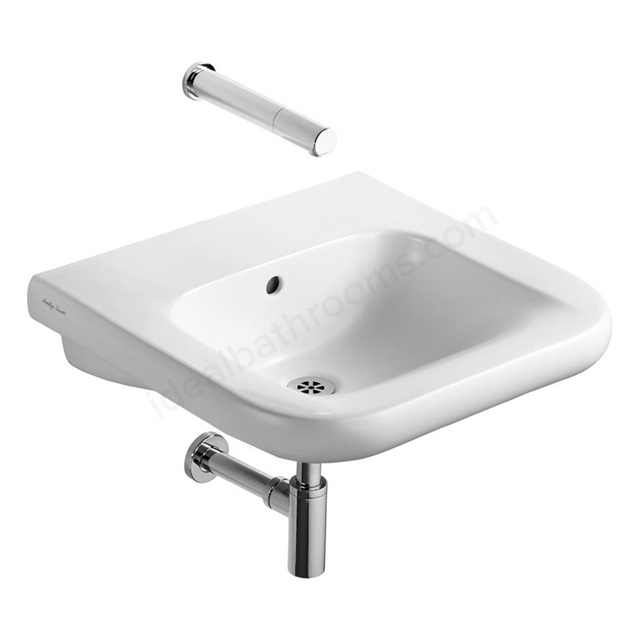 Armitage Shanks CONTOUR 21 Accessible Basin with Overflow and Chain Hole; 0 Tap Hole; 550mm Wide; White