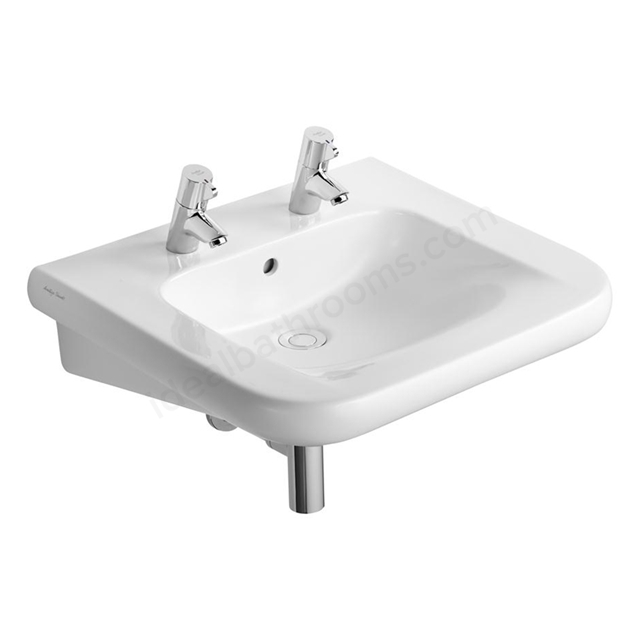 Armitage Shanks CONTOUR 21 Accessible Basin; 2 Tap Hole; 600mm Wide; White