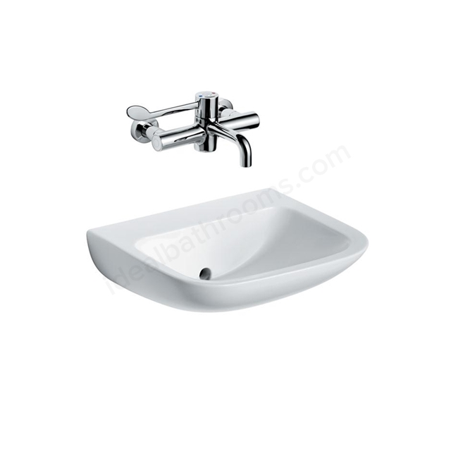 Armitage Shanks CONTOUR 21 Basin with Back Outlet; 0 Tap Hole; 600mm Wide; White
