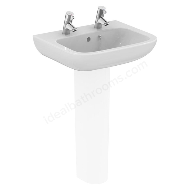 Armitage Shanks Portman 21 500mm Pedestal basin 2 Tap Holes