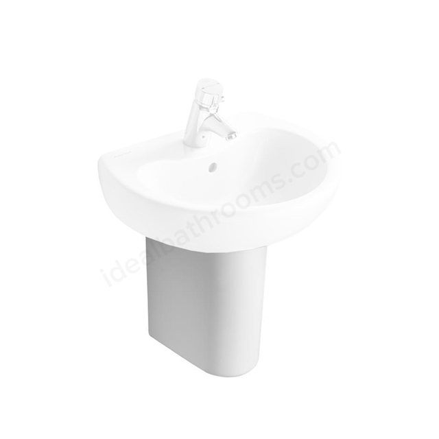 Armitage Shanks CONTOUR 21 Semi Pedestal for 500mm Basins; White