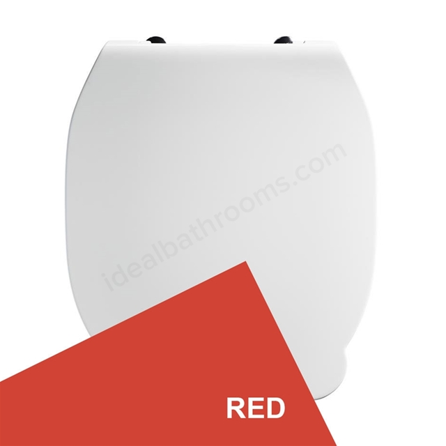 Armitage Shanks CONTOUR 21 Toilet Seat and Cover; for 355mm Toilet Pans; Red