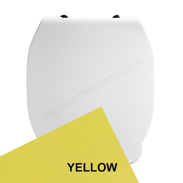Armitage Shanks CONTOUR 21 Toilet Seat and Cover; for 355mm Toilet Pans; Yellow