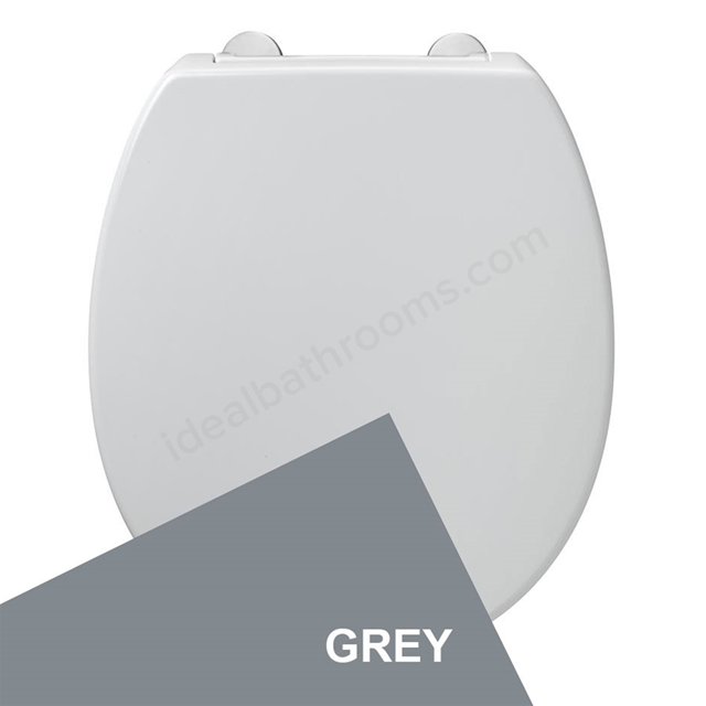Armitage Shanks CONTOUR 21 Standard Toilet Seat and Cover; Top Fix Hinges; Grey