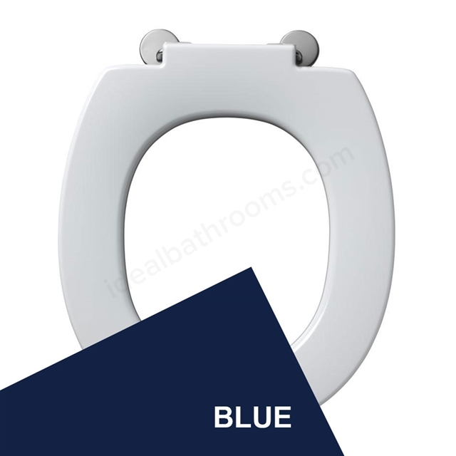 Armitage Shanks CONTOUR 21 Standard Toilet Seat Only with Retaining Buffers; Top Fix Hinges; Blue