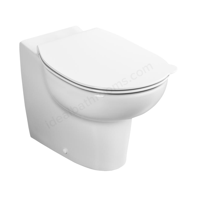 Armitage Shanks CONTOUR 21 SPLASH Back-to Wall Rimless Bowl; 355mm High; White