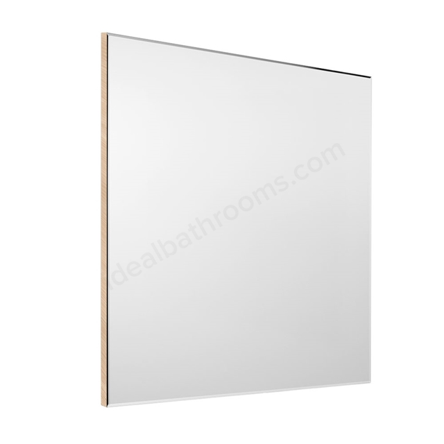 Roca VICTORIA-N Bathroom Mirror; Rectangular; 800x700mm; Textured Oak