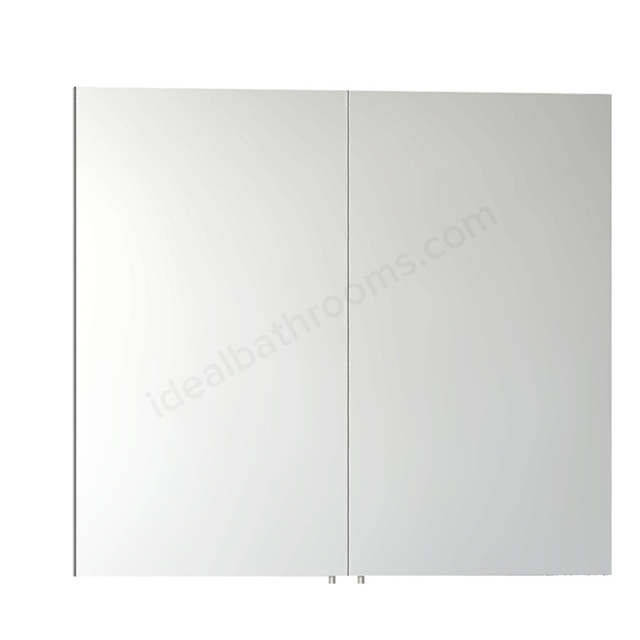 Vitra CLASSIC Mirror Cabinet, 800mm Wide, 2 Door, Gloss White