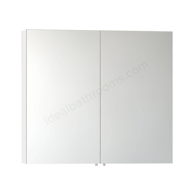 Vitra CLASSIC Mirror Cabinet, 1000mm Wide, 2 Door, Gloss White