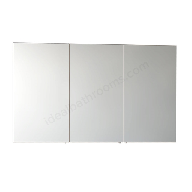 Vitra CLASSIC Mirror Cabinet, 1200mm Wide, 3 Door, Gloss White