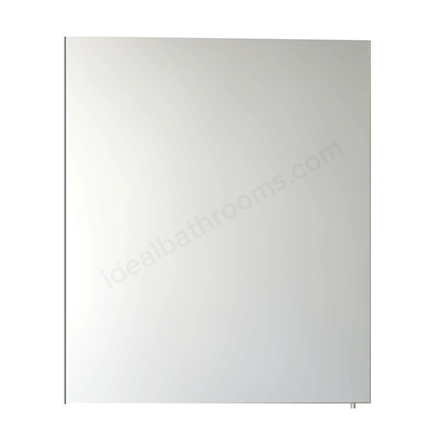 Vitra CLASSIC Mirror Cabinet, 600mm Wide, 1 Door Right Handed, Gloss White