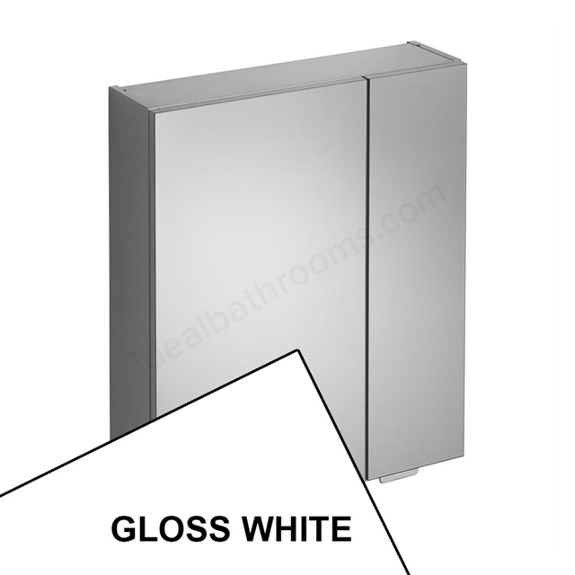 Ideal Standard CONCEPT SPACE Bathroom Mirror Cabinet; 600x700mm; Gloss White