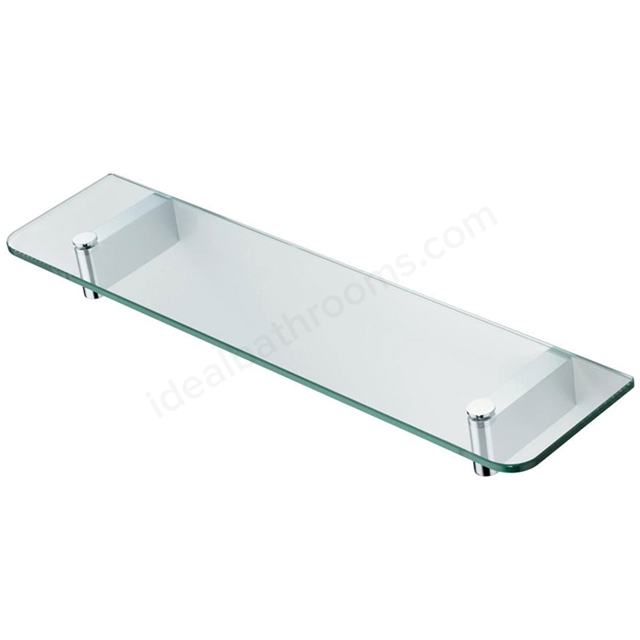 Ideal Standard CONCEPT 500mm Glass Shelf & Bracket; Chrome