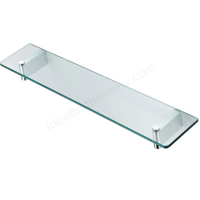 Ideal Standard CONCEPT 600mm Glass Shelf & Bracket, Chrome