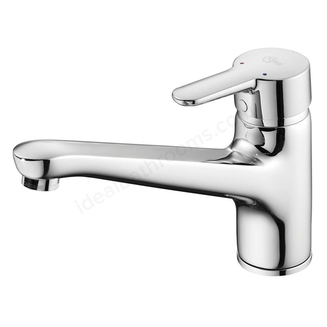 Ideal Standard CONCEPT Blue Sink Mixer Tap, Cast Spout, 1 Tap Hole, Chrome