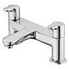 Ideal Standard CONCEPT Blue Bath Filler Tap, Dual Control, 2 Tap Hole, Chrome